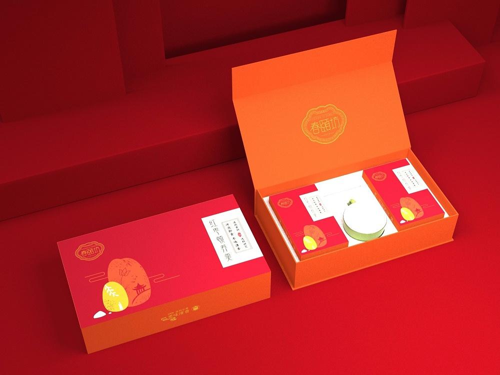 红枣羹包装盒—食品包装盒定制—恒印包装