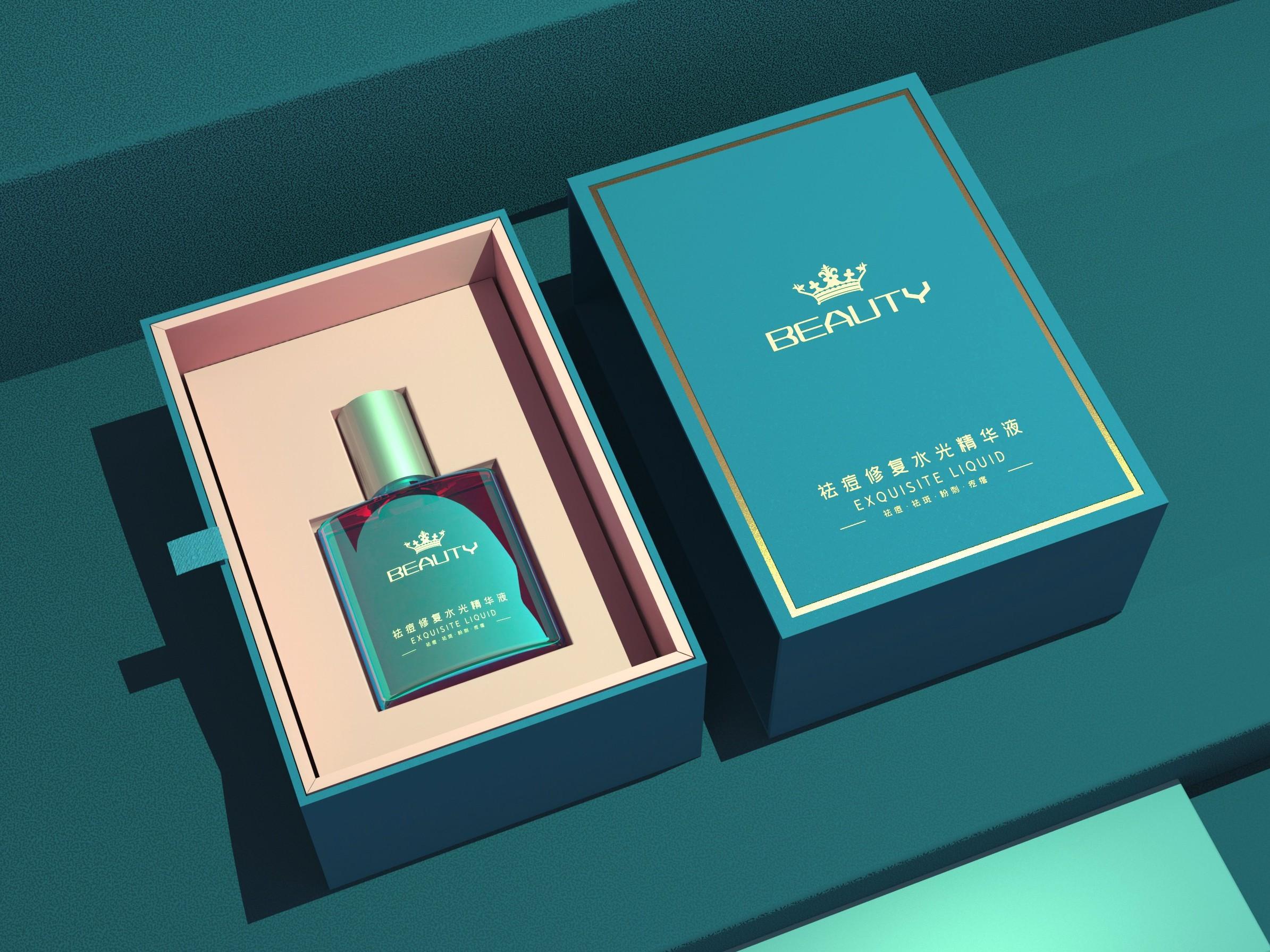 精华液包装盒—化妆品包装盒定制—恒印包装